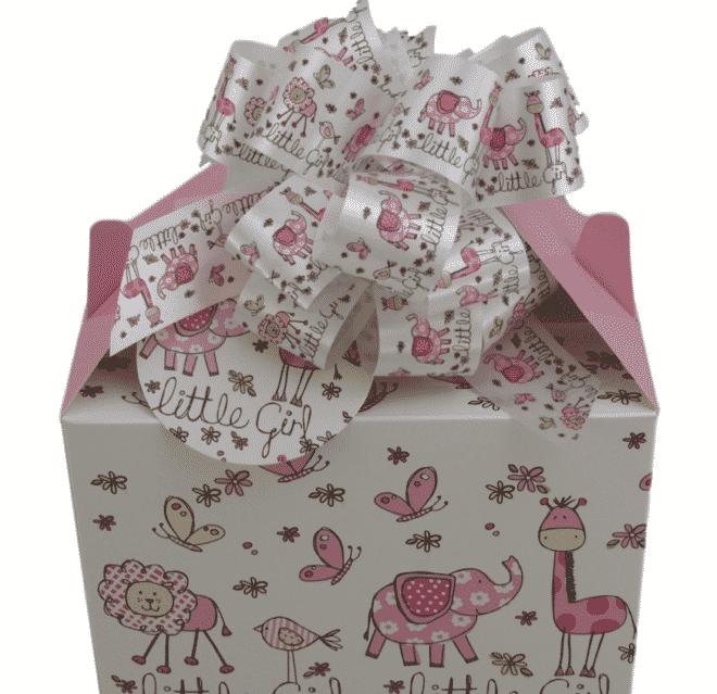 Peek A Boo 8 Piece Baby Girl Gift Box Hamper Baby